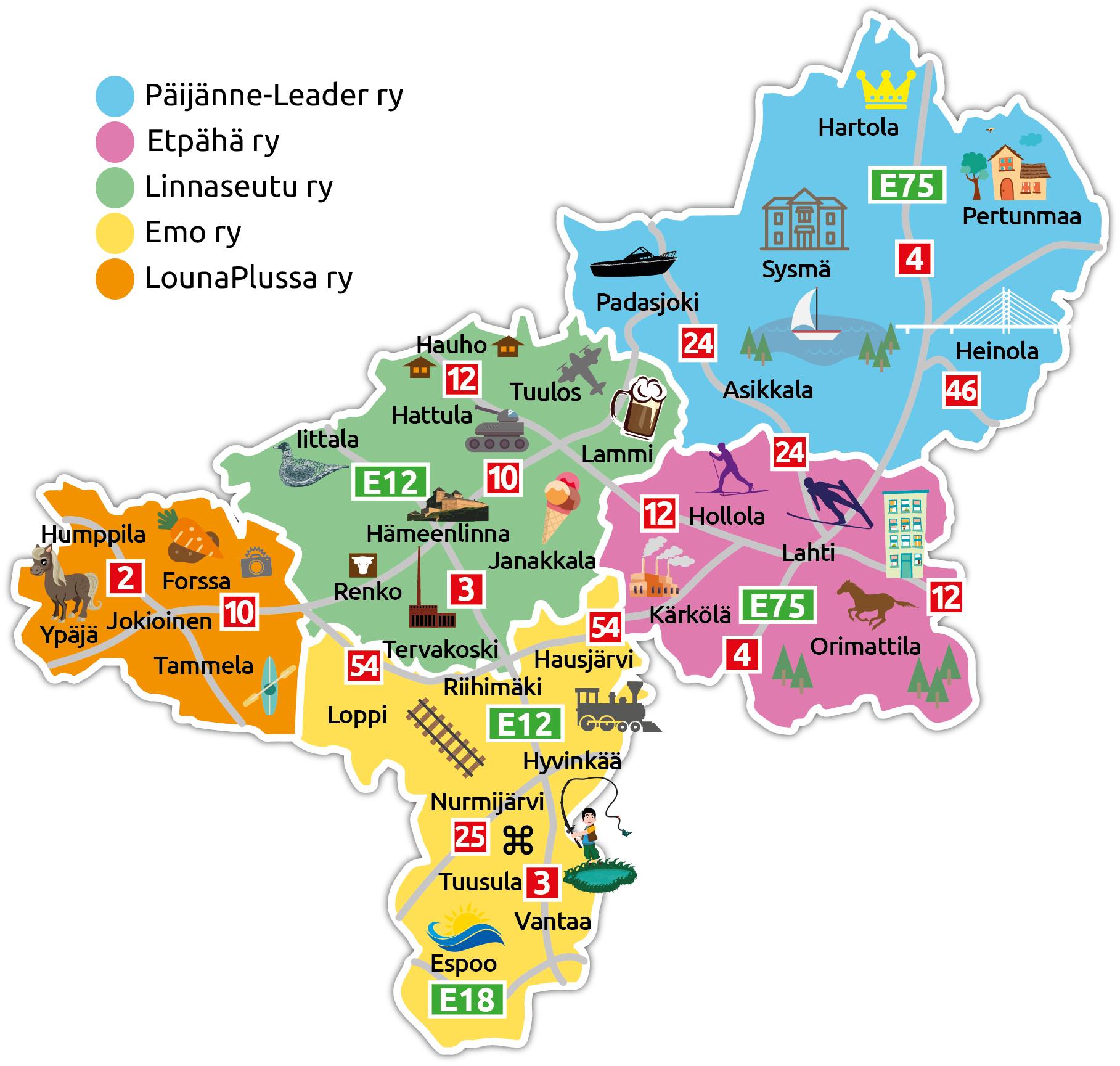 HämeLeader-kartta