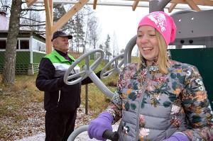 Lähiliikunta-alue on Vojakkalan kylän yhteinen kuntoilupaikka