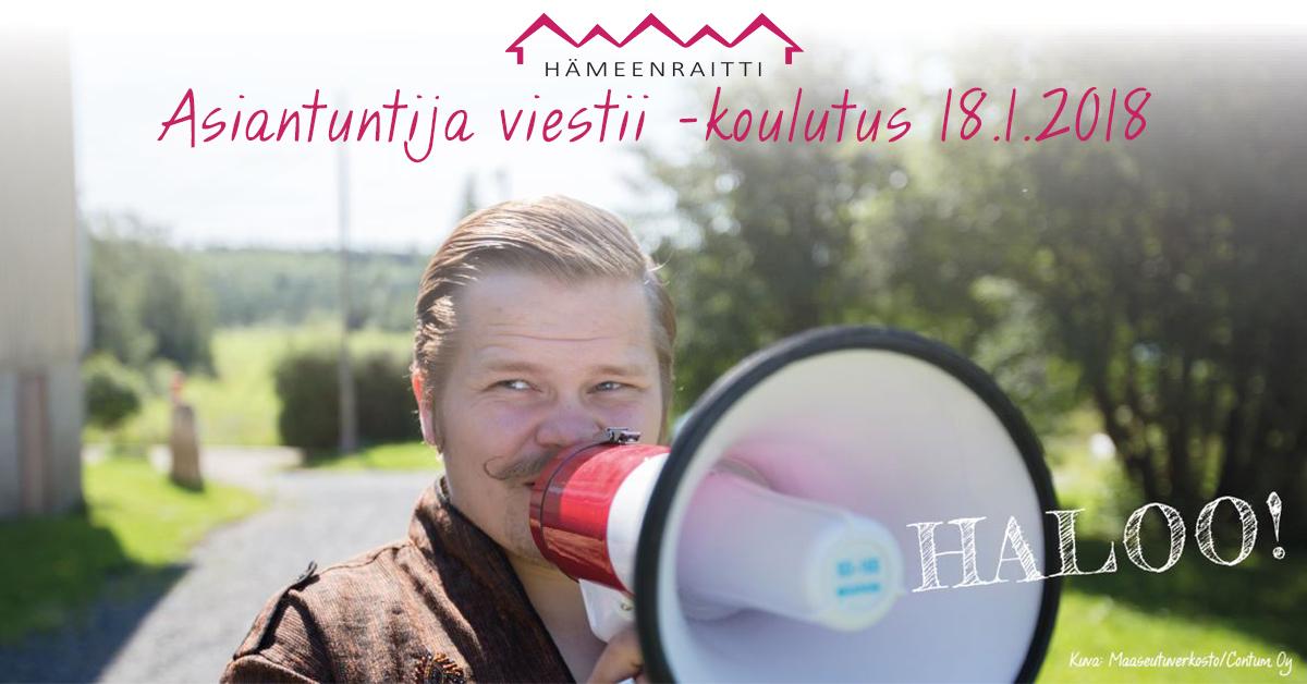 Asiantuntija viestii -koulutuksen materiaalit - Hämeenraitti